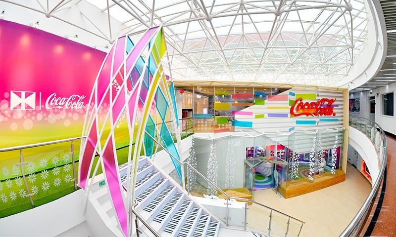 ▲江蘇太古可口可樂飲料有限公司觀光工廠的虹之塔實景。