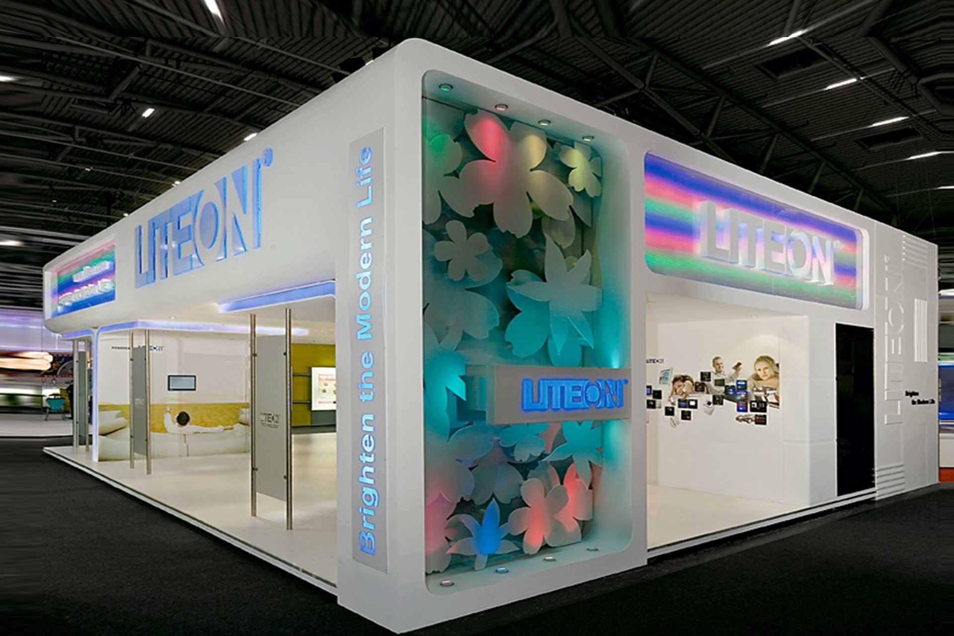 展覽設計 LED照明展 精緻花型雷射切割 ─ 歐立利展覽設計公司推薦