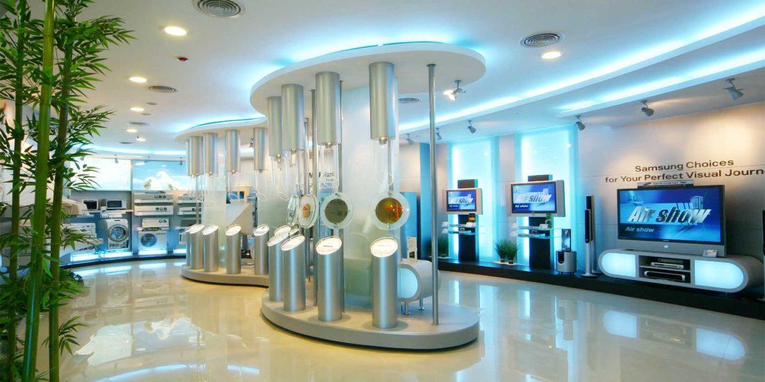 高科技感 店面裝潢設計 ─ 歐立利商用空間設計